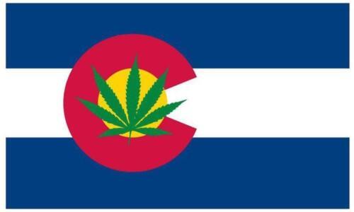 COLORADO STATE LEGAL MARIJUANA 3X5 FLAG medical #604 recreational pot leaf new