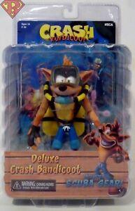 "Crash Bandicoot NECA 7/"" Scale Action Figure Deluxe Crash with Scuba Gear"