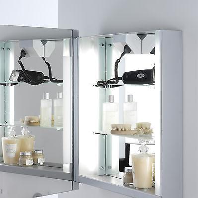 Alarm Astro Livorno Shaver 0637 Illuminated Mirror Cabinet Shaver Socket 2 X 14w T5 Klanten Eerst