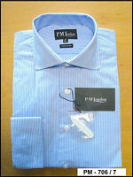 Mens formal work, Check shirts, 100% Cotton Double Cuff