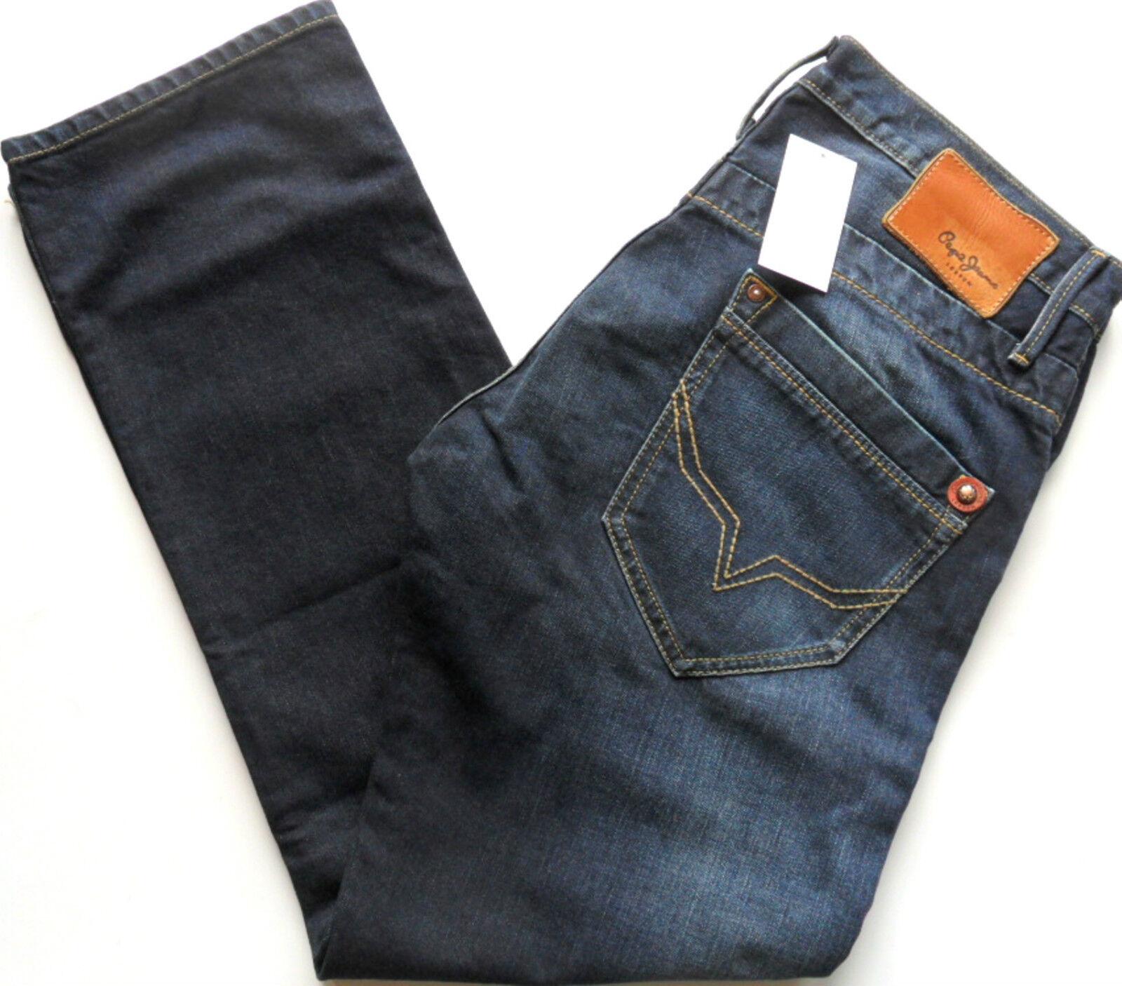 PEPE PEPE PEPE JEANS Men's Tooting Regular Fit Straight Leg Denim Dark Blau W 30  - 36  4f2837