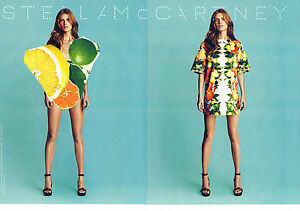 PUBLICITE ADVERTISING  2011   STELLA MAC CARTNEY  haute couture  (2 pages)