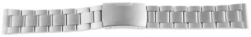 Edelstahl massiv Ersatz Uhrenband Gliederarmband Faltschließe Silbern 18mm-24mm