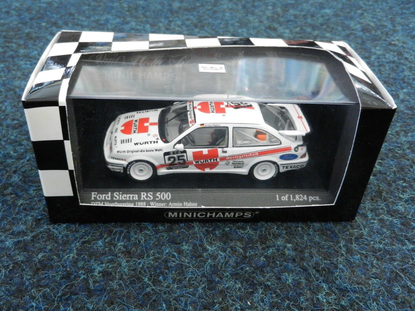 Raro Minichamps 1 43 Wurth RS500 DTM Sierra RS Cosworth 430888025 en caja.