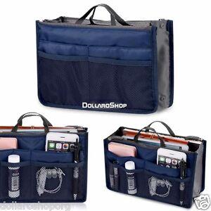 Organizer-per-borse-Bag-in-organizza-la-borsa-con-tasche-interne-ed-esterne-BLU