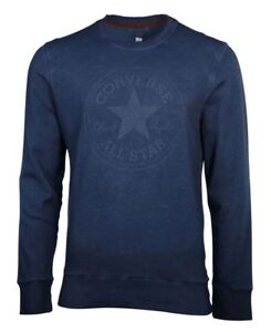 Details about NWT Converse Men's Nomad Patch Crew Sweatshirt Marble NAVY