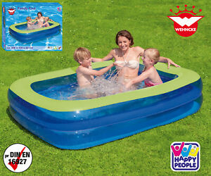 Happy-People-Family-2-Ring-Pool-200-150-50-cm-Planschbecken-Schwimmbecken