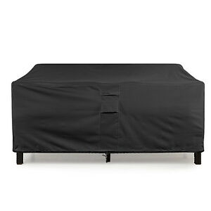Loveseat Cover Weatherproof Outdoor Sofa Furniture Protector Black Khomo Gear