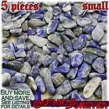 5 Small 10mm Combo Ship Tumbled Gem Stone Crystal Natural Agate Crazy Lace