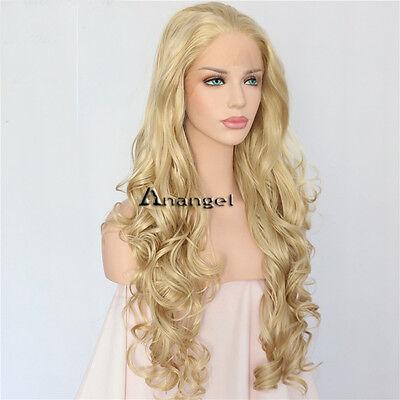 Synthetic Blonde Lace Front Wig Body Wavy Long Wave Fiber Hair Women's Wigs