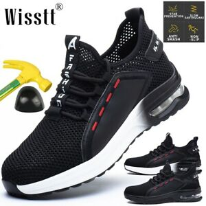 Women-Safety-Steel-Toe-Boots-Air-Cushion-Work-Shoes-Indestructible-Mesh-Sneakers