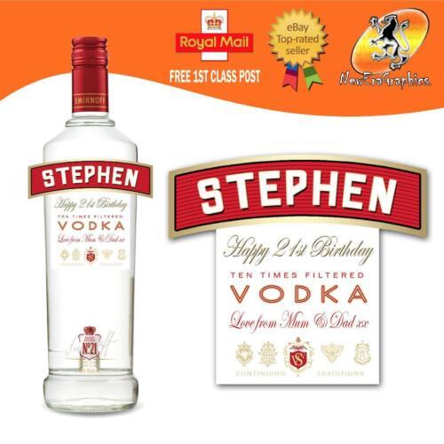 Vodka personnalisée étiquette du flacon Cadeau D/'Anniversaire Toute Occasion