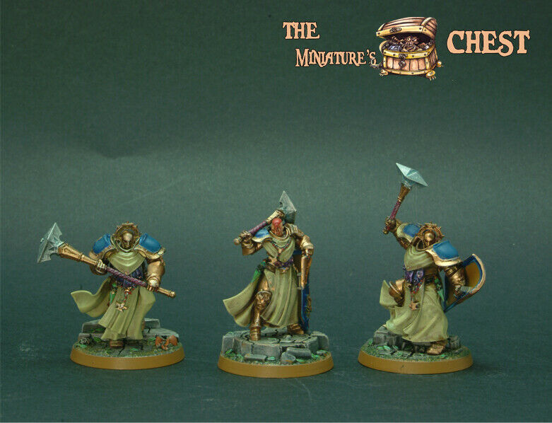 Age of Sigmar 3x Stormcast Painted By TMC Team - Warhammer Games Workshop