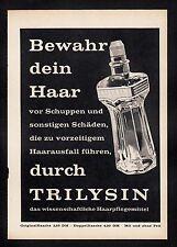 3w520/ Alte Reklame - von 1958 - Haarpflegemittel TRILYSIN