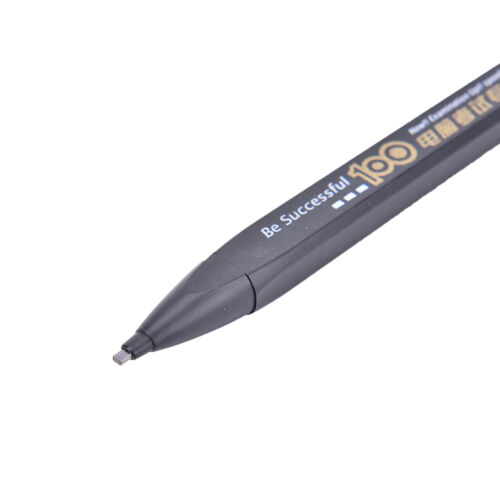2B Black Lead Holder Exam Mechanical Pencil With Lead Refill Set Office Sup B TO