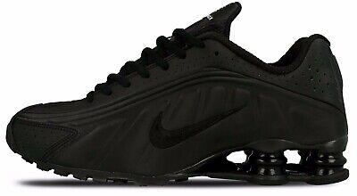 Nike Shox R4 Triple Black 104265-044 MEN RUNNING SHOES 100%AUTHENTIC 2019  DS USA | eBay