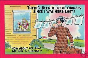 Traveling-Salesman-Humor-Old-Comic-Linen-Post-Card-92