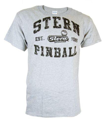 Stern Pinball T-shirt a maniche corte con logo nel look usato Grigio S-XXL