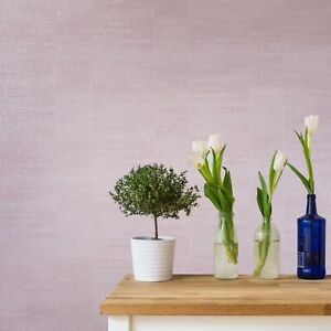 Modern-Wallpaper-rolls-Plain-pink-metallic-faux-plaster-Textured-striped-lines