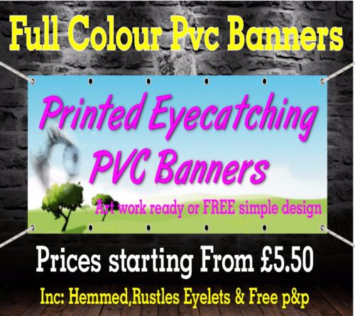 PVC Banners Outdoor Vinyl Banner Advertising Sign Display Printed Heavy Duty...