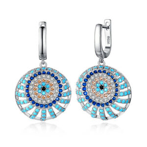 JewelryPalace-Bohemian-Spinel-Sunflower-Drop-Hoop-925-Sterling-Silver-Earrings