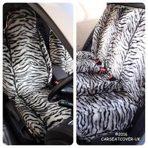 Chevrolet-Orlando-GREY-TIGER-Faux-Fur-Furry-Car-Seat-Covers-Full-Set