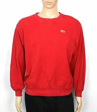 VINTAGE LACOSTE CHEMISE RED LONG SLEEVE SWEATER SWEATSHIRT JUMPER SIZE M (SW156)