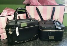 Victoria's Secret Black leopard stud heart train case & Hanging makeup COSMETIC