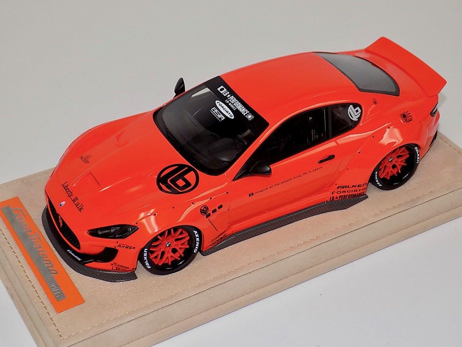 1 18 AB modèles Maserati GranTurismo Liberty Walk Orange, Orange WHLS Alcantara un