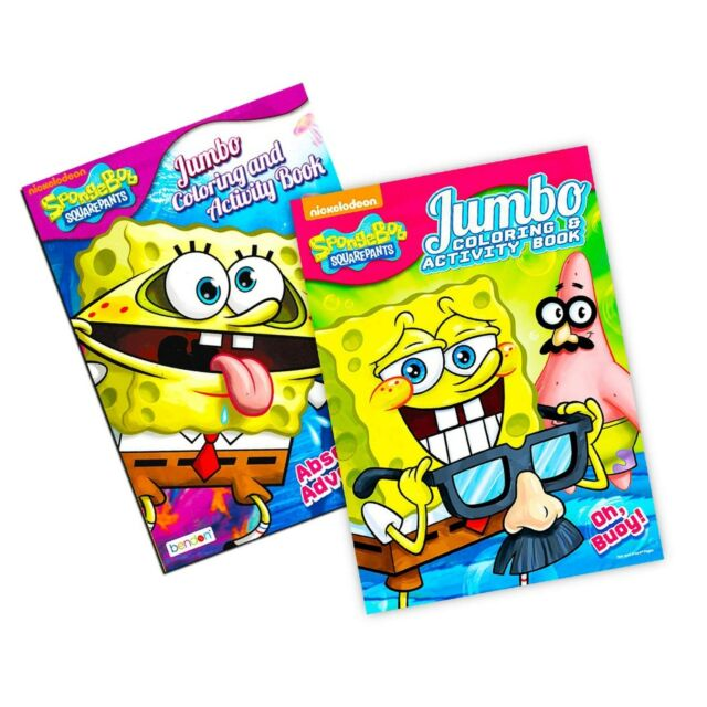 - Spongebob Squarepants Coloring Book Set (2 Coloring Books) For Sale Online