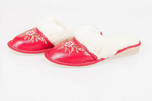 Lady Women Sheepskin 100/% Leather Slippers Wool Shoes Size 3 4 5 6 7 8Flip-Flop