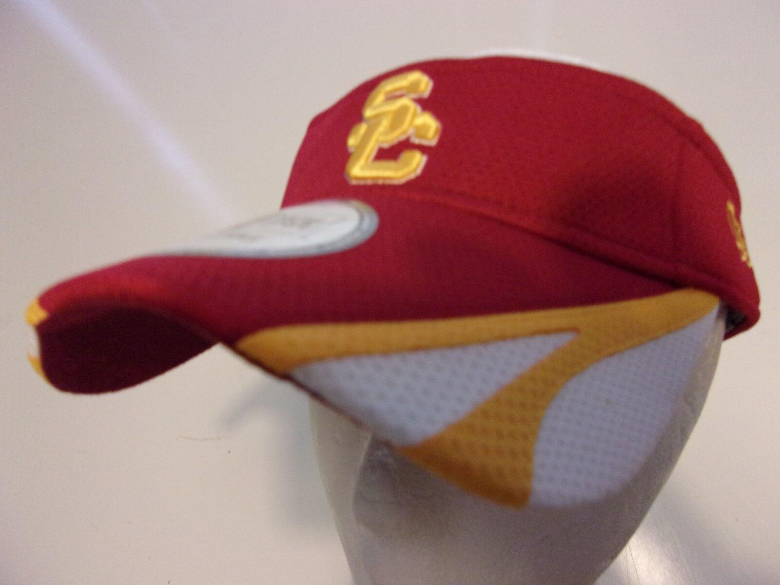 los angeles 70f98 89d95 ... authentic era usc trojans southern california visor cap hat men  adjustable red osfa fa607 af21f