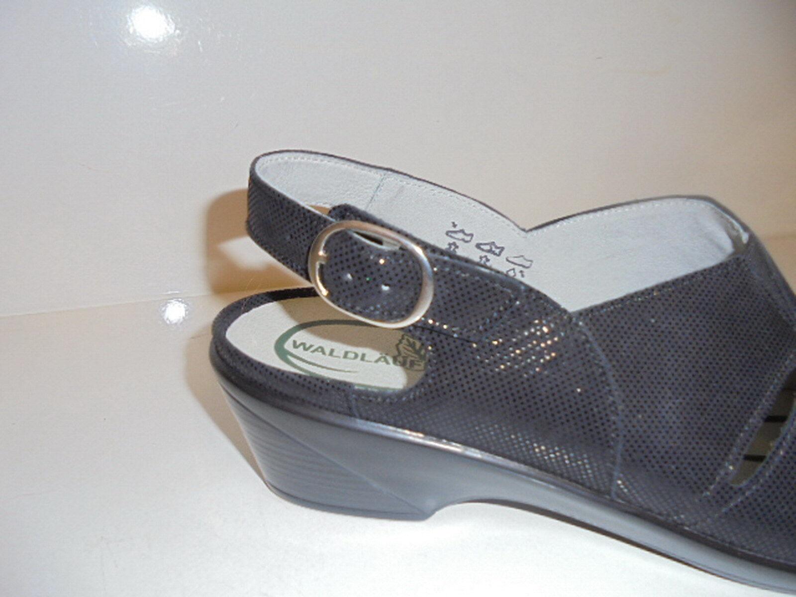 653003 Waldläufer Damenschuhe Sandale Leder lose Einlagen schwarz UK 8 Gr.42