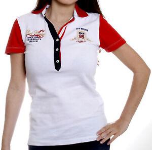 Redbridge-Damen-Maedchen-Frauen-Polo-Shirt-kurzarm-R-42216-weiss