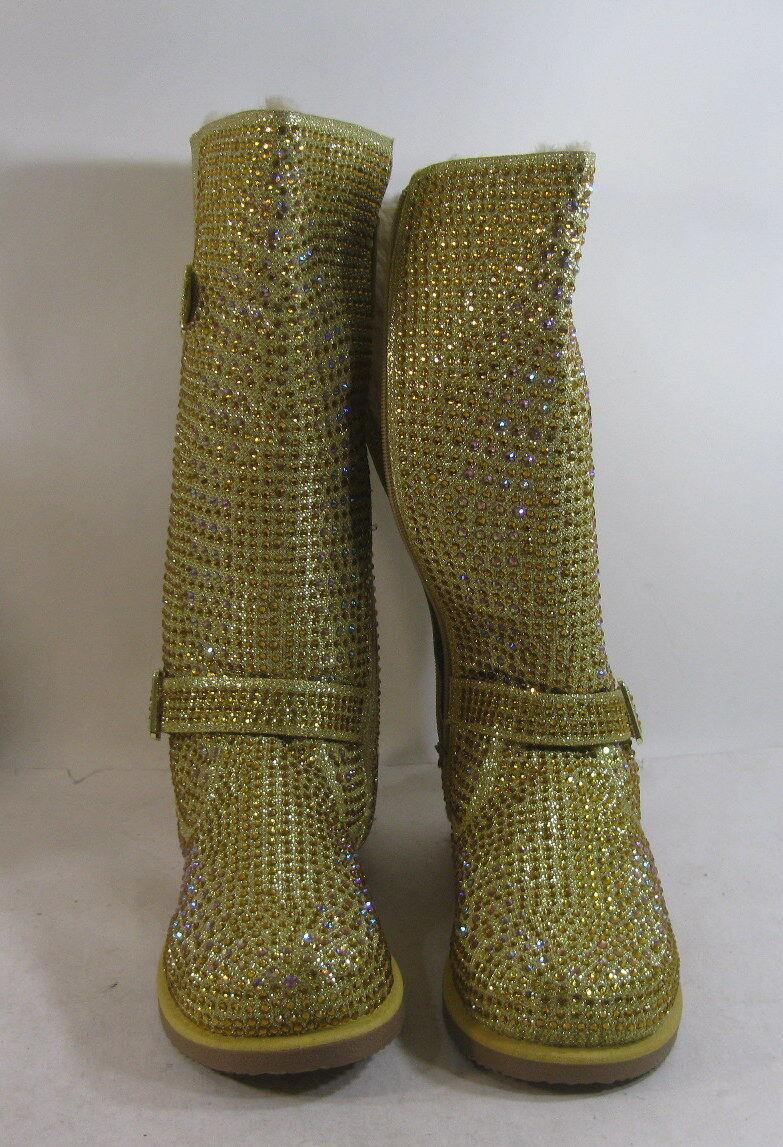 Urban Glitter High Gold Größe Rhinestones Winter Mid-Calf Sexy Boot Größe Gold 7 e7168c