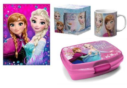 Brotbüchse//Lunchbox Disney Frozen Eiskönigin 3er Set Kuscheldecke Tasse