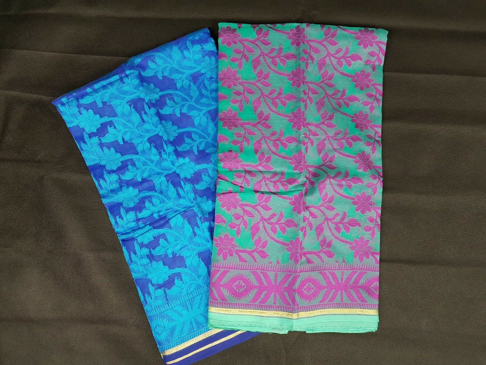 Brand New Muslin Jamdani Sarees various colours and flower patterns