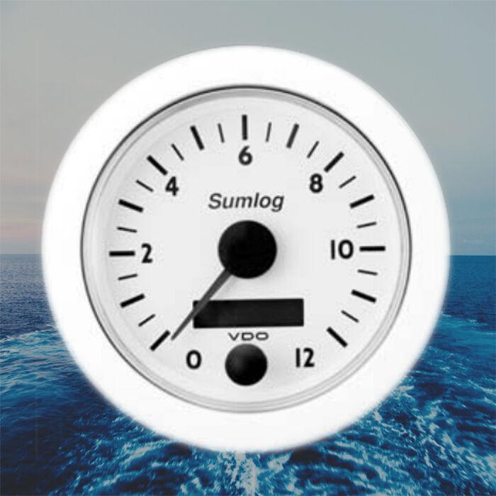 VDO Line Ocean Line VDO Sumlog Geschwindigkeitsmesser KIT LCD 85mm 12 kn weiß N01-100-828 e03a21