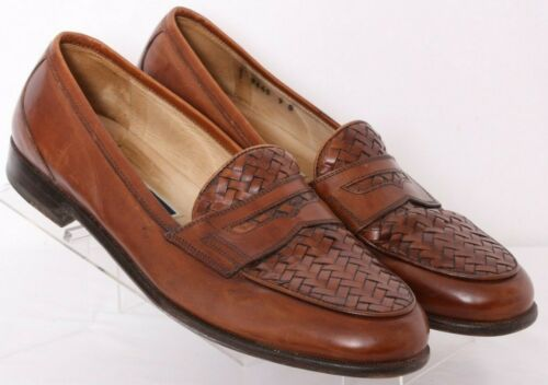 Cole Haan Bragano 9645 Brown Leather Woven Penny L