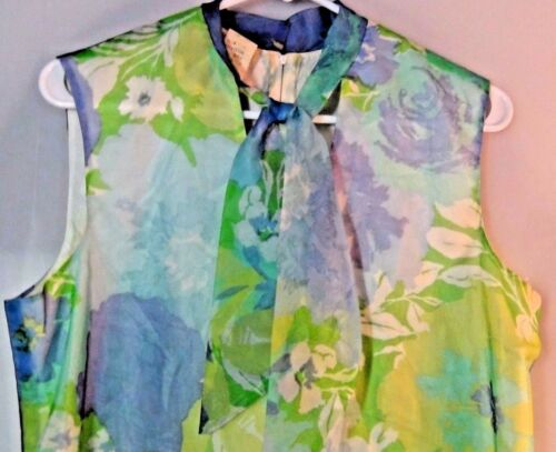 Vintage Floral Dress Loose Casual Full Size 15-16