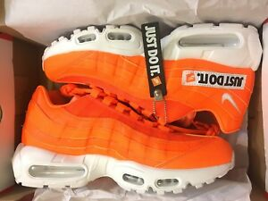 Details about NEW NIKE AIR MAX 95 SE JUST DO IT JDI TOTAL ORANGE SHOES AV6246 800 MEN SIZE 8