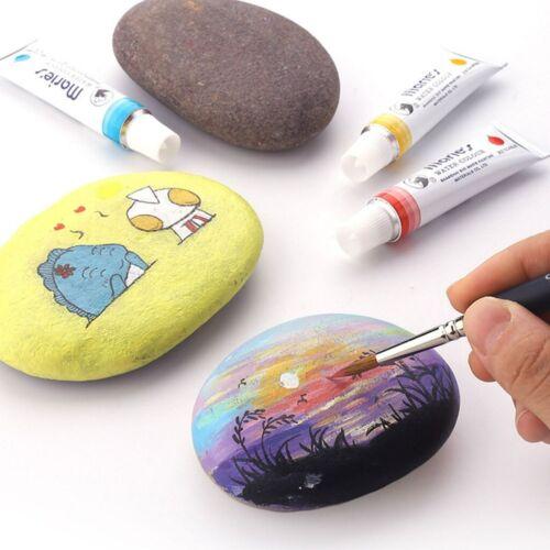 5pcs Miniature Paint Brush Set Wolf Hair Fine Detail Brush Art Oil Painting