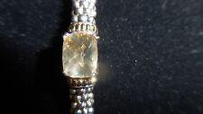 LAGOS 925 18Kt  Pale Smoky Topaz Caviar Bracelet  6mm EUC Size L MSRP$750