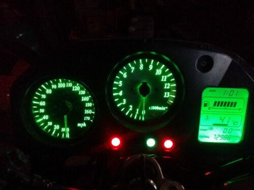 led clock upgrade kit lightenUPgrade GREEN VFR800 RC46 98-01