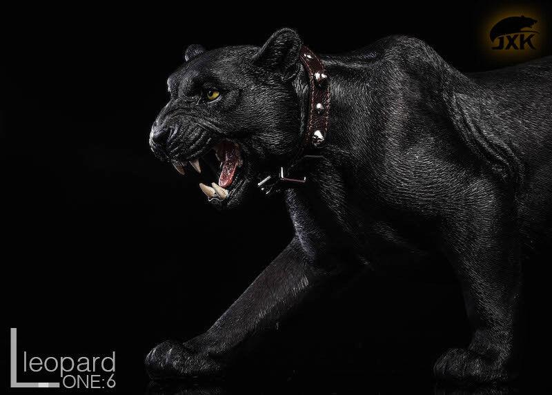 JXK.Studio JxK009A The Leopard Panther Animal Model With Fluoresced Eyes