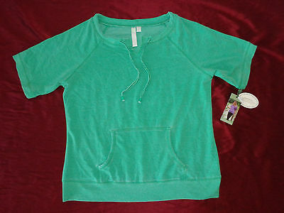 Green Tea Short Sleeve Pullover Top Green Women/'s Exercise Shirt NWT Size Large