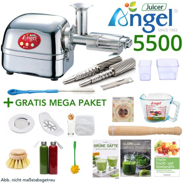 Angel Juicer 5500 Edelstahl Entsafter Saftpresse + 12-teiliges GRATIS MEGA-Paket
