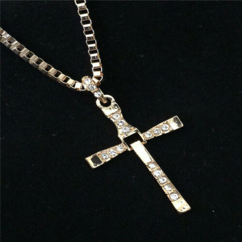 Collar cruz remolque vin diesel oro//plata Toretto joyas regalo caballeros