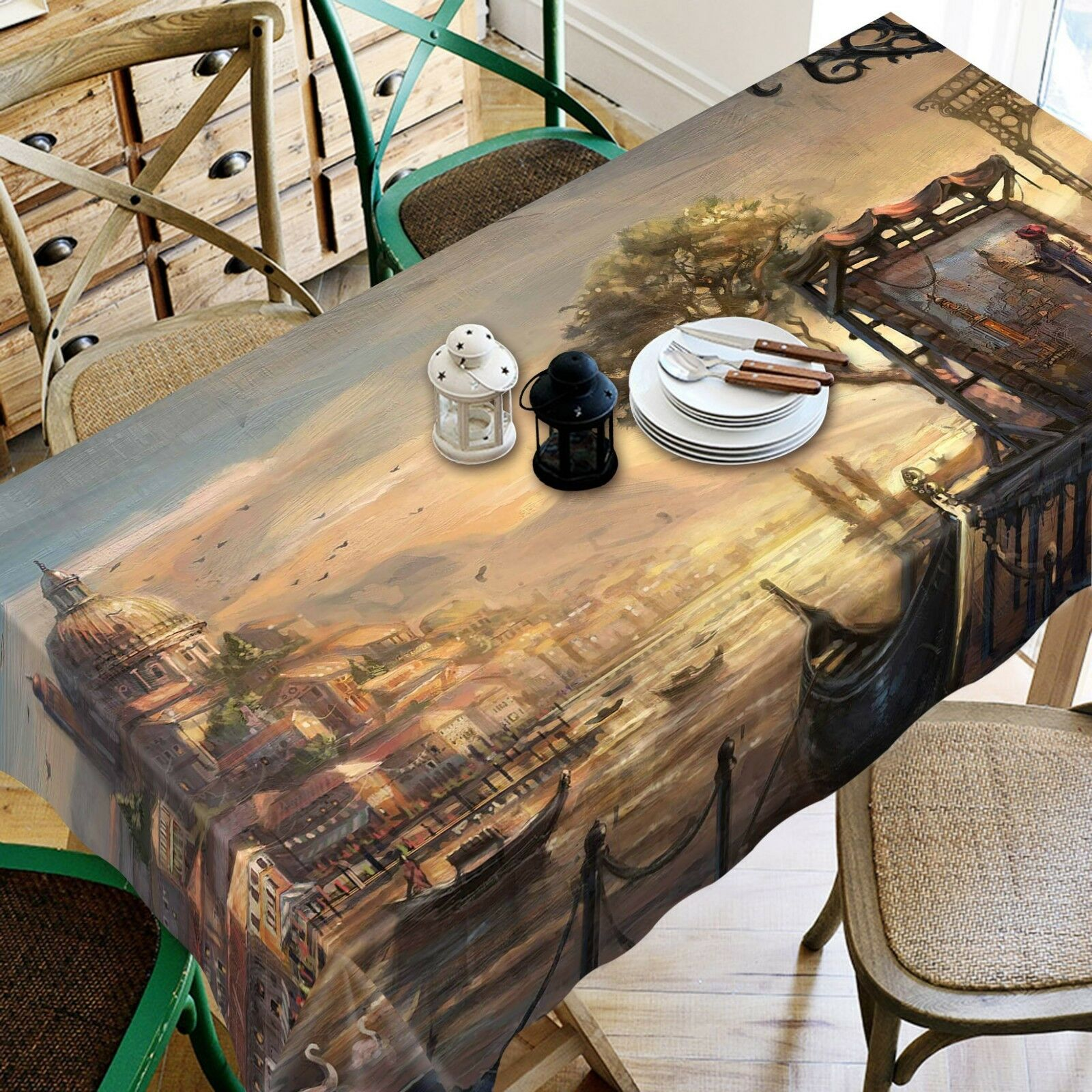 3D Street Painted 074 Tablecloth Table Cover Cloth Birthday Party Event AJ Jenny