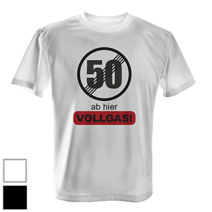50 à partir de là les pleins gaz t-shirt Hommes Cadeau Anniversaire Anniversaire Papa Papy Fun